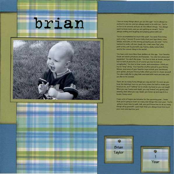 Brian- 1 year old- Scrapvivor Week 3