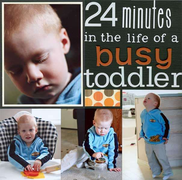 24 minutes in the life of a busy toddler- Left