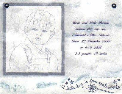 Little Boy Birth Announcement