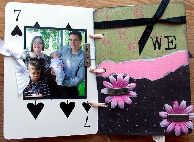 """""""we"""" page of heidi swapp playing cards album"""