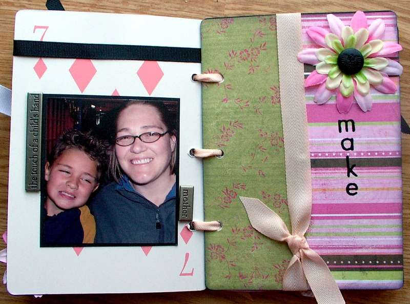 """""""make"""" page of heidi swapp playing cards album"""