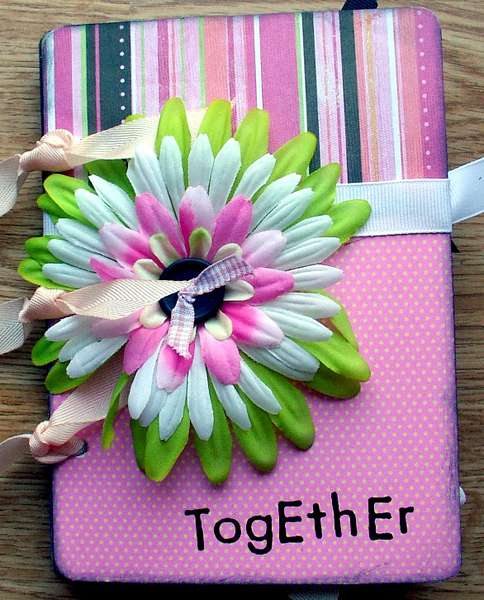 """cover page """"together"""" of heidi swapp playing cards album"""