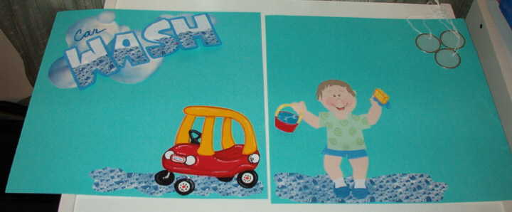 Little Tykes CAR WASH paper piecing set