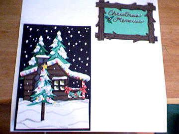 Winter Cabin Die Cut Art