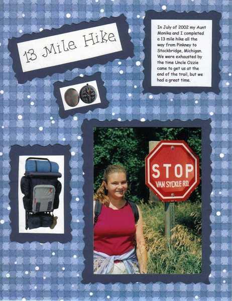 13 Mile Hike page 1