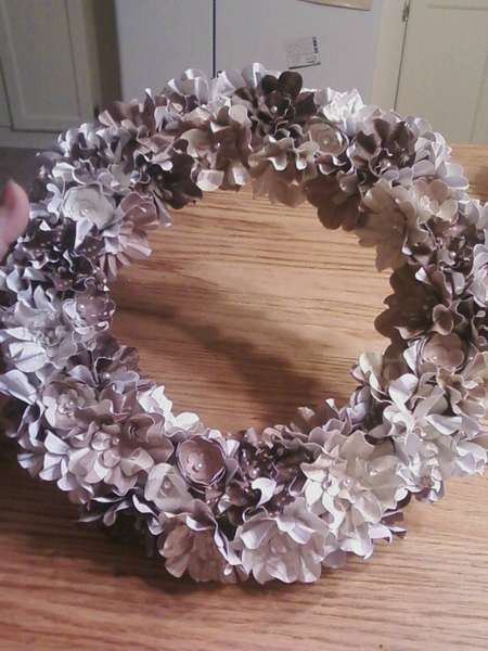 homemade flower wreath