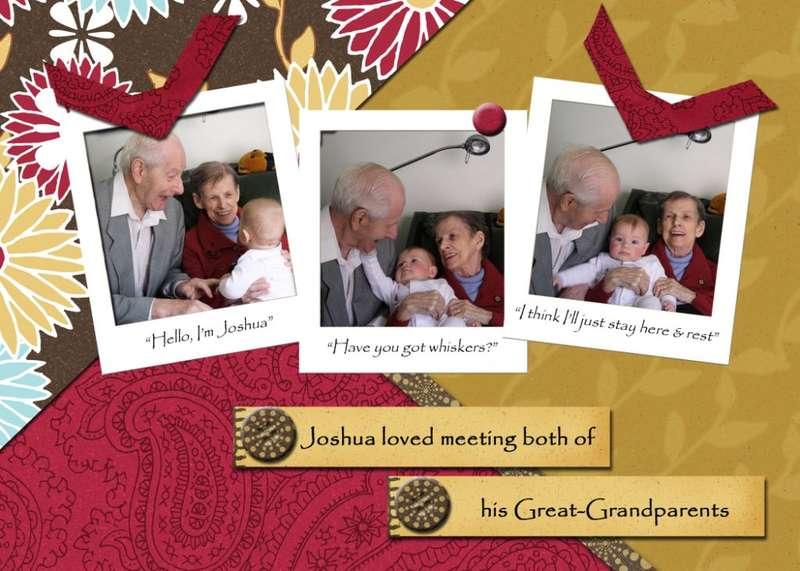 Joshua & his Great-Grandparents