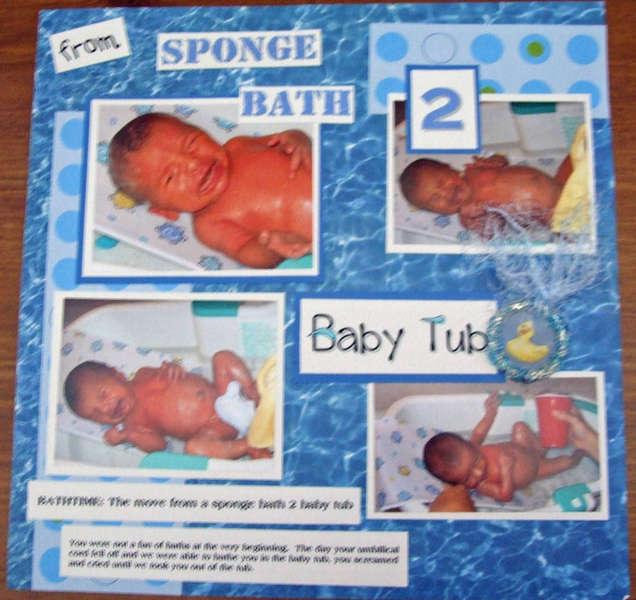From Sponge Bath 2 Baby Tub