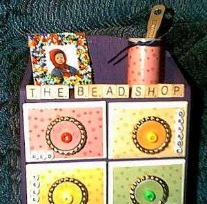 close-up Bead Storage