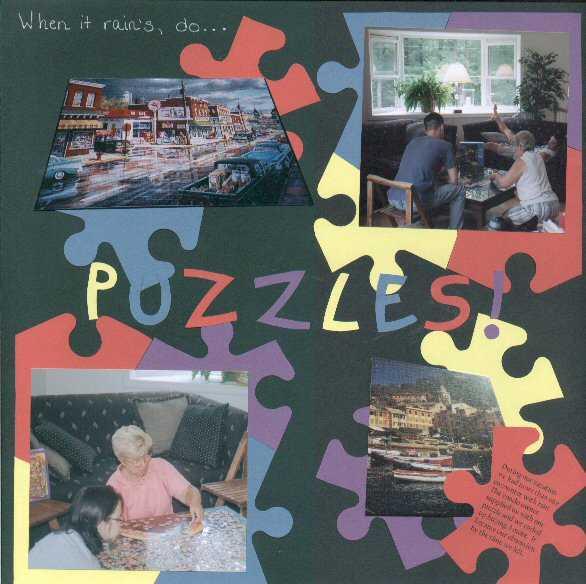 When it rain's, do PUZZLES!