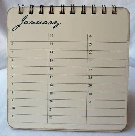 Inside of bday calendar