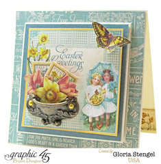 Graphic 45 Time To Flourish April Card 2