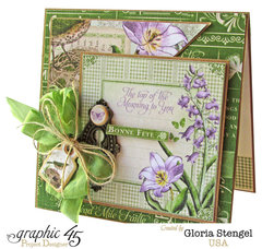 Graphic 45 Time To Flourish March Card 2