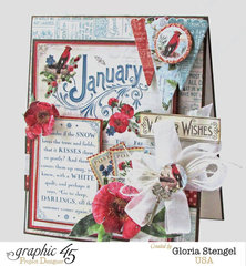 Graphic 45 Time To Flourish January Card 2
