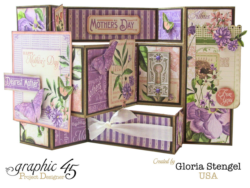 Graphic 45 Time To Flourish May Card 1