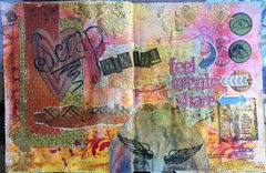 Scrapmixing art journal page