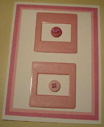 Framed Button Card