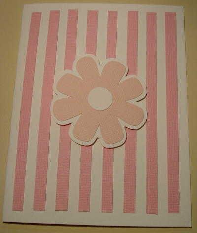 Striped Flower Card