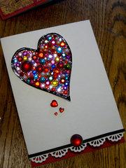 sparkly Valentine card