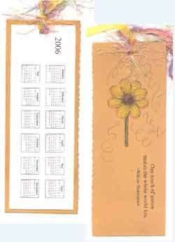 Bookmark w/ calendar