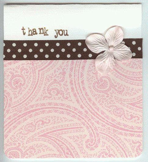 Thank You (paisley & polka dot)