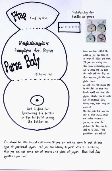 Purse Template with instructions