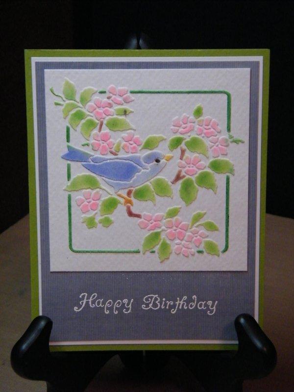 Dreamweaver Bird & Blossoms--Paste Embossing