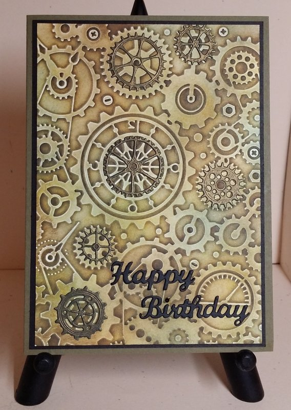 Cuttlebug Clockworks & Faux Patina