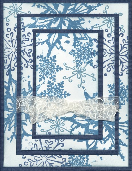 Triple Time Stamping Technique -- Snowflake Card