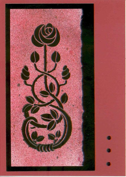 Stencil Workshop --Embossing Paste & Metal Leaf