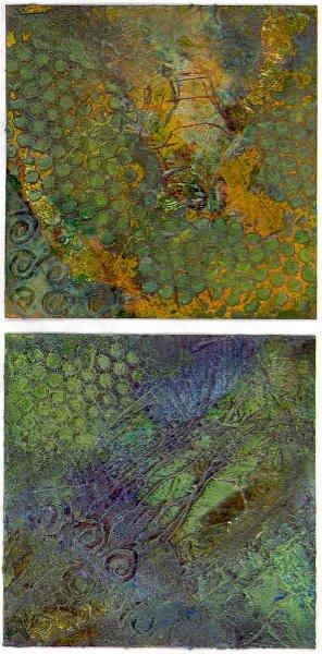 Molding Paste/Acrylic Paint Art Squared Swap