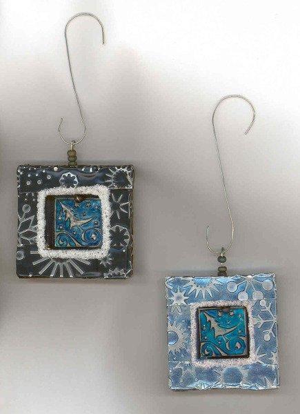 Embossed Metal Christmas Ornaments