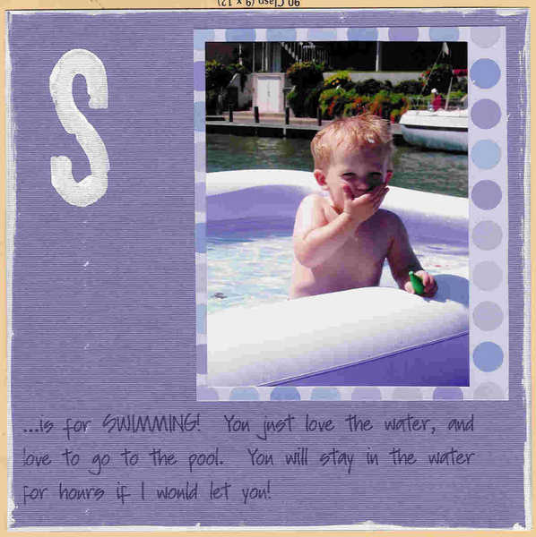 S is for Swimming