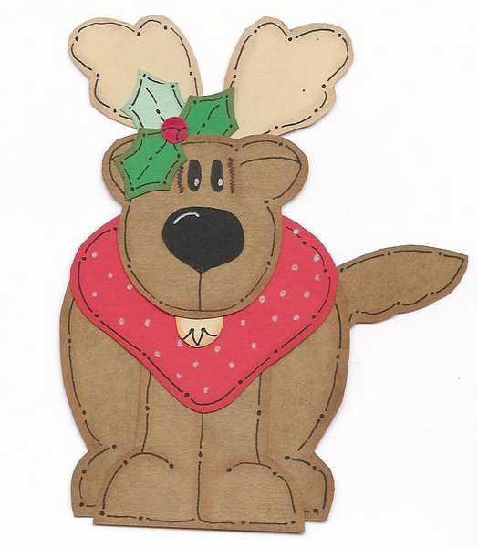 Reindeer Paper Piecing