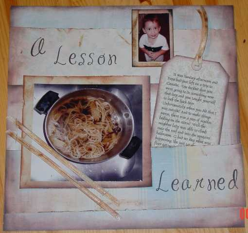 A lesson Learned....