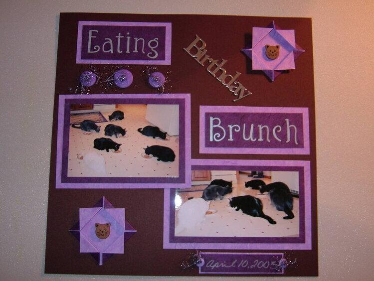 E - Eating Birthday Brunch