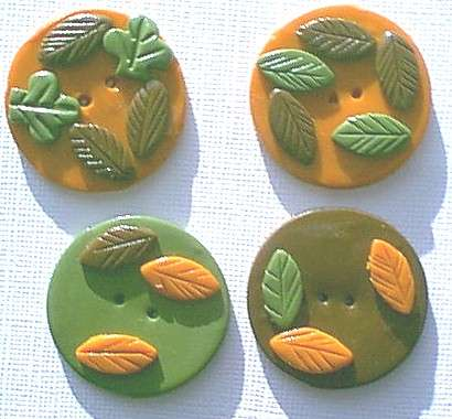 Fall clay buttons