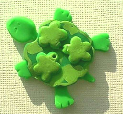 Turtle Clay Button