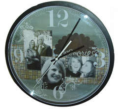 Paisley Plaid Altered Clock