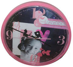 Queen of Pink Altered Clock