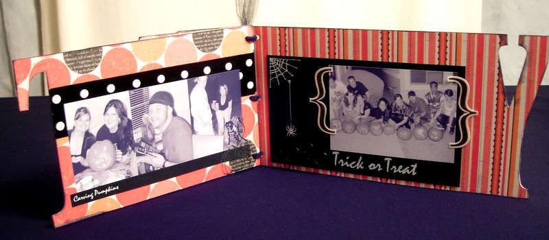 Halloween Party Mini Album Inside3