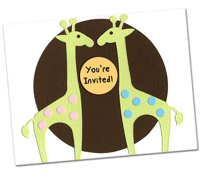 TWINS - Baby Shower Invite
