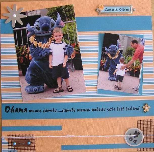 Ohana means family..........