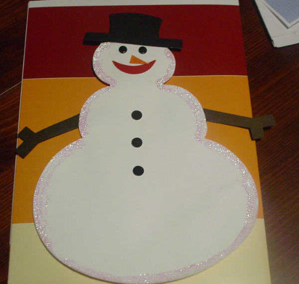 Snowman Paper Piecing - First Ever