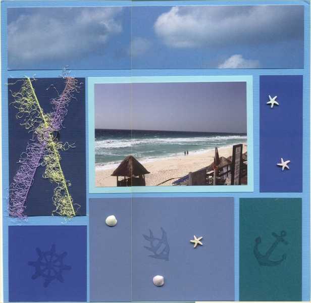 Scrapvivor Week 7 #2 - Ocean view in Cancun