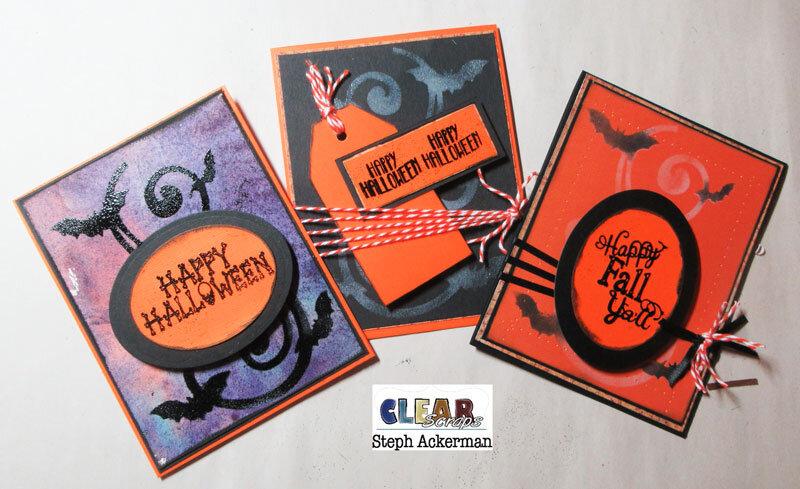 Trio of Bats Cards