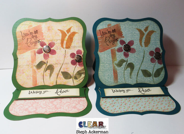 Shaped Stenciled Cards