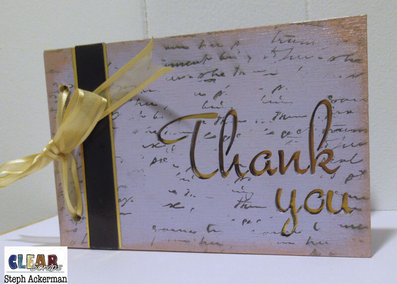 Wood Thank You Card
