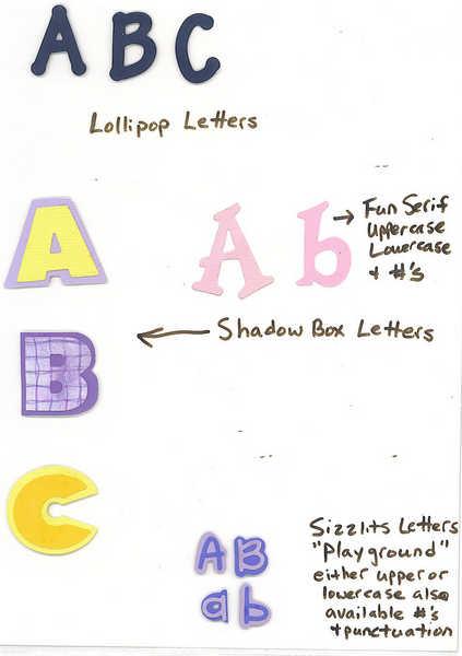 Sizzix Die Cut Alphabets