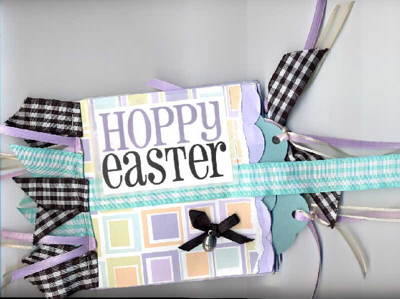 Hoppy Easter paper bag album
